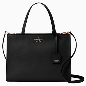 ♠️NWT kate spade sam medium satchel in black♠️
